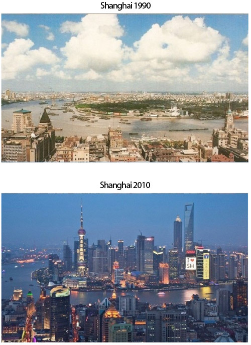 Shanghai-before-and-after